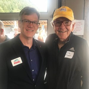 Dave with Former State Rep. David Quall (Mount Vernon)