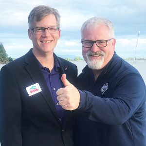 Dave with State Rep. Jeff Morris (Anacortes)