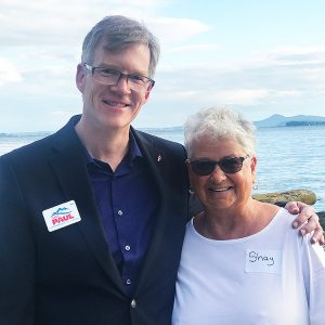 Dave with Former State Rep. Shay Schual-Berke, M.D. (Anacortes)