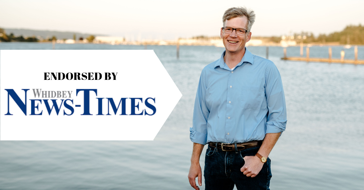 Dave is endorsed by the Whidbey News Times